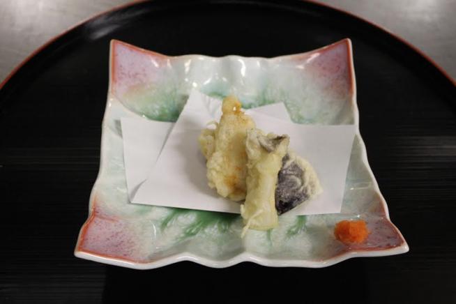 鮑の天ぷら